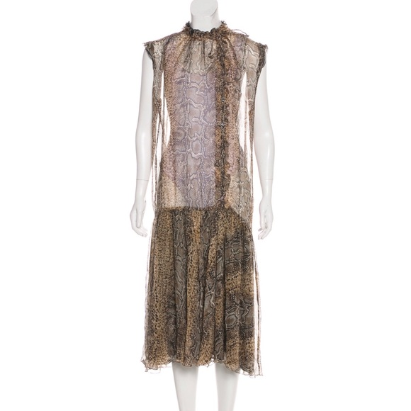 Dolce & Gabbana Dresses & Skirts - Dolce & Gabbana animal print midi dress L Italy